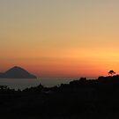 Sunset at Lipari by Lydia Cafarella