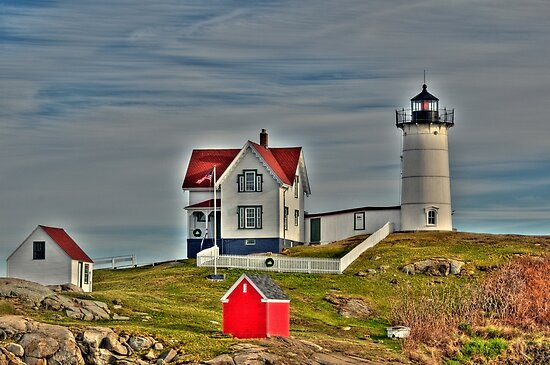 Nubble Lighthouse by Monica M. Scanlan