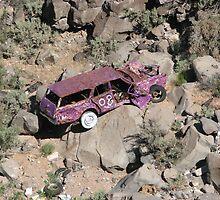 New Mexico- lost things- tagged purple car by sasparilla