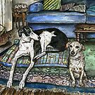 A Portrait of Penny and Lucky by Elle J Wilson