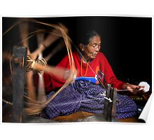 Spinning Cotton Poster