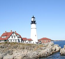 Light House at Portland Maine by Rayworsnop