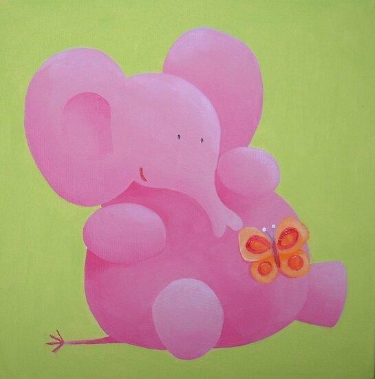 Elephant with butterfly by Koekelijn