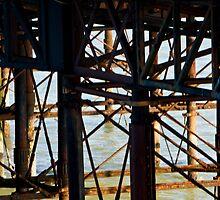 Brighton Pier, the flip side. by Liza Kirwan