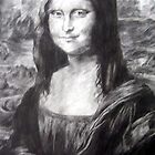 Pencil drawing of the 'Mona Lisa'  by scarletmoon