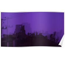 Corfe Castle at Halloween Poster