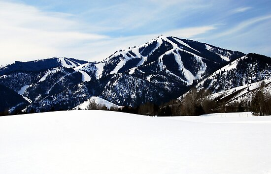 Bald Mountain, Sun Valley, Idaho by Jennifer Hulbert-Hortman