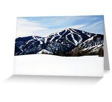 Bald Mountain, Sun Valley, Idaho Greeting Card