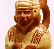 Red Pottery Erotic Figurine, Mocha Culture, 6 AD - 800 AD, Peru by PantaOz