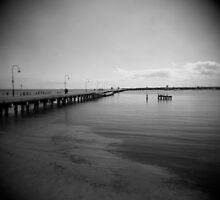 Pier At Dusk by Mary Grekos