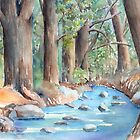 Creek In The Woods by arline wagner
