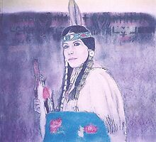 Young Navajo Bride full View by David M Scott