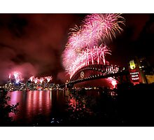 Sydney New Years Eve Fireworks 2007 Photographic Print