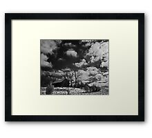 Clark Schoolhouse - clearing snow storm Framed Print