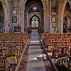 Main aisle St Mary's Church Wirksworth Derbyshire by Iain Mavin