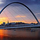 Gateshead Millennium Bridge - Sunset by David Lewins