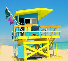 Florida Beach, Surf Lifesavers Hut by Rob Conway