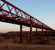 Algebuckina Bridge (Old Ghan Line), South Australia by Tim Coleman
