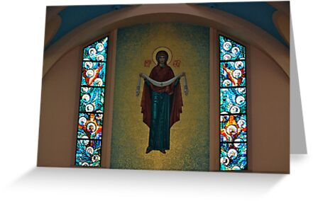 St. Mary's Ukrainian Catholic Church Interior... by Carol Clifford