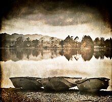 Three small boats by Carlos Restrepo