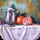 Pewter Still Life by Pamela Plante