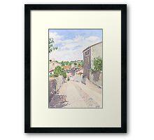 Down the Barbican Ramp, Montbron, France Framed Print