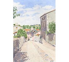 Down the Barbican Ramp, Montbron, France Photographic Print