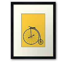 vintage bike Framed Print