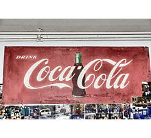 Coke Sign at Tom and Mabel's Photographic Print