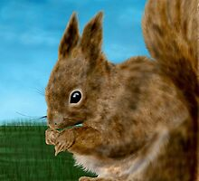 Squirrel painting by nishagandhi