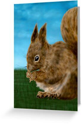 Squirrel painting by nishagandhi