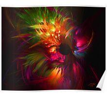Fractal Fireworks Poster