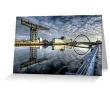 River Clyde reflected Greeting Card