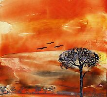 Orange Sky by Pam Amos