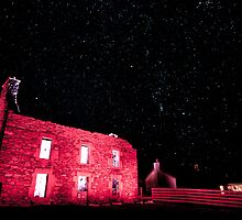 Aald Haa Mirrie Dancers with stars, Houss, Shetland by Austin Taylor