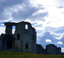 Denbigh Castle, Denbighshire, North Wales. by artfulvistas