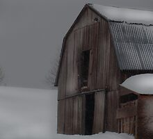 Barn on a Winter Day by vigor