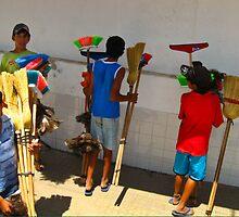 Broom Salesmen - Argentina by Kent DuFault