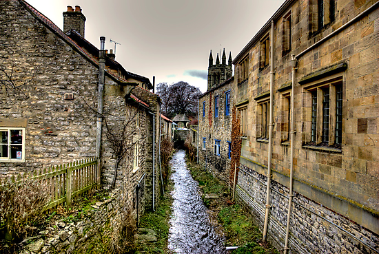Village Stream by Trevor Kersley