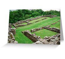 Roman Fort along hadrian's Wall Greeting Card