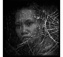 A Face Behind The Glass Photographic Print