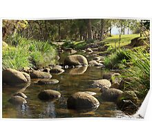 Stepping Stones - Mount Barney Queensland Poster