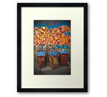 Croft Alley Bins Framed Print