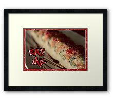 EAT ME - SUSHI Framed Print