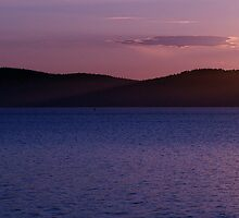 Orcas Island Sunset by Gene Campbell