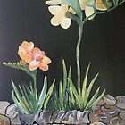 "Sweet Freesias - Mum said ""I smell their sweetness my day will be good"" by Kathleen Duronio"