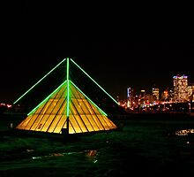 Muttart Pyramids & Edmonton Skyline by JCBimages