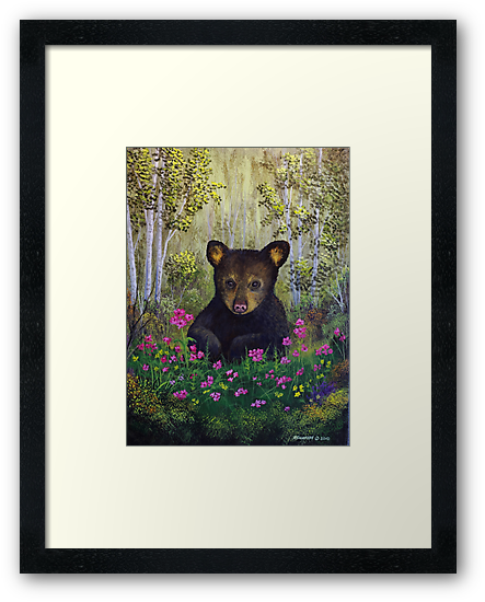 Whimsical Bear Cub by Rich Summers