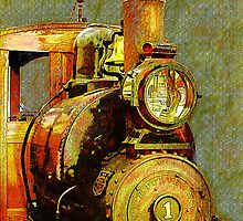 Antique Train by Joselyn Holcombe