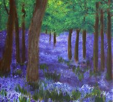 When bluebells seemed like fairy gifts. by Les Sharpe